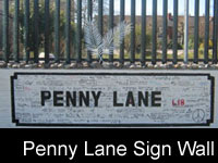 Penny Lane Sign Wall