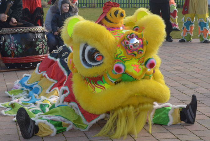 Chinese Lion Dancing at Penny Lane Development Trust